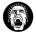 Screaming Face Vector Image