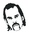 Nick Cave Vector Portrait