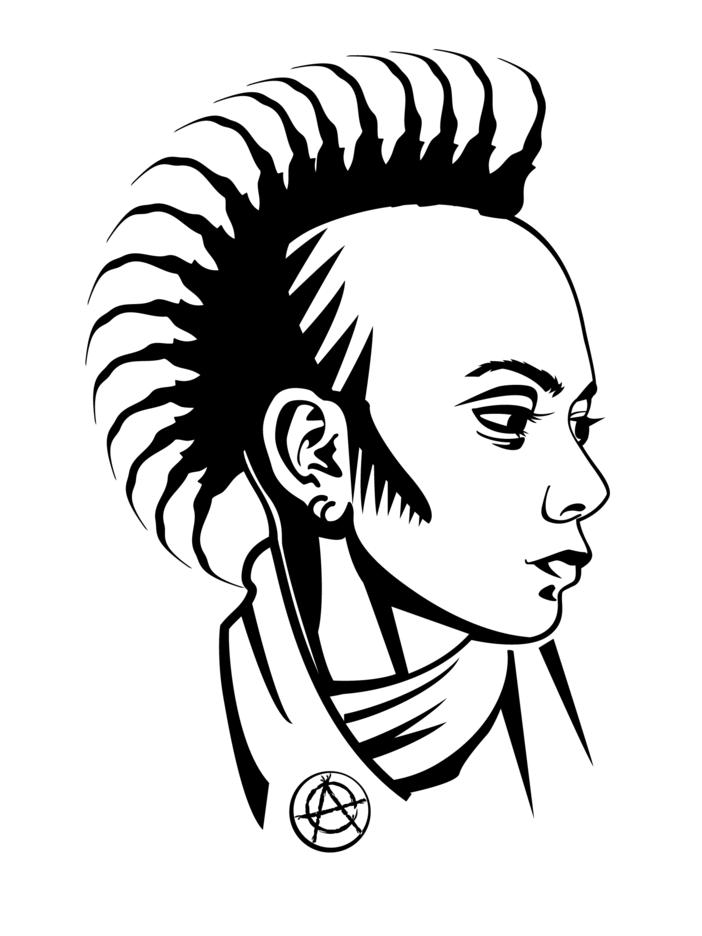 Punk Girl Vector Profile