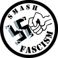 Smash Fascism Vector Sticker