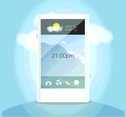 Mobile Phone Cloud Vector