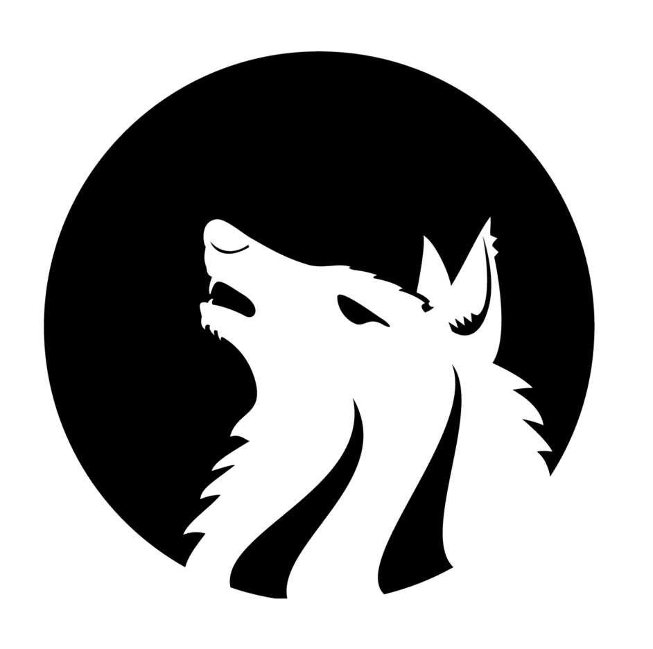 Wolf Monochrome Vector