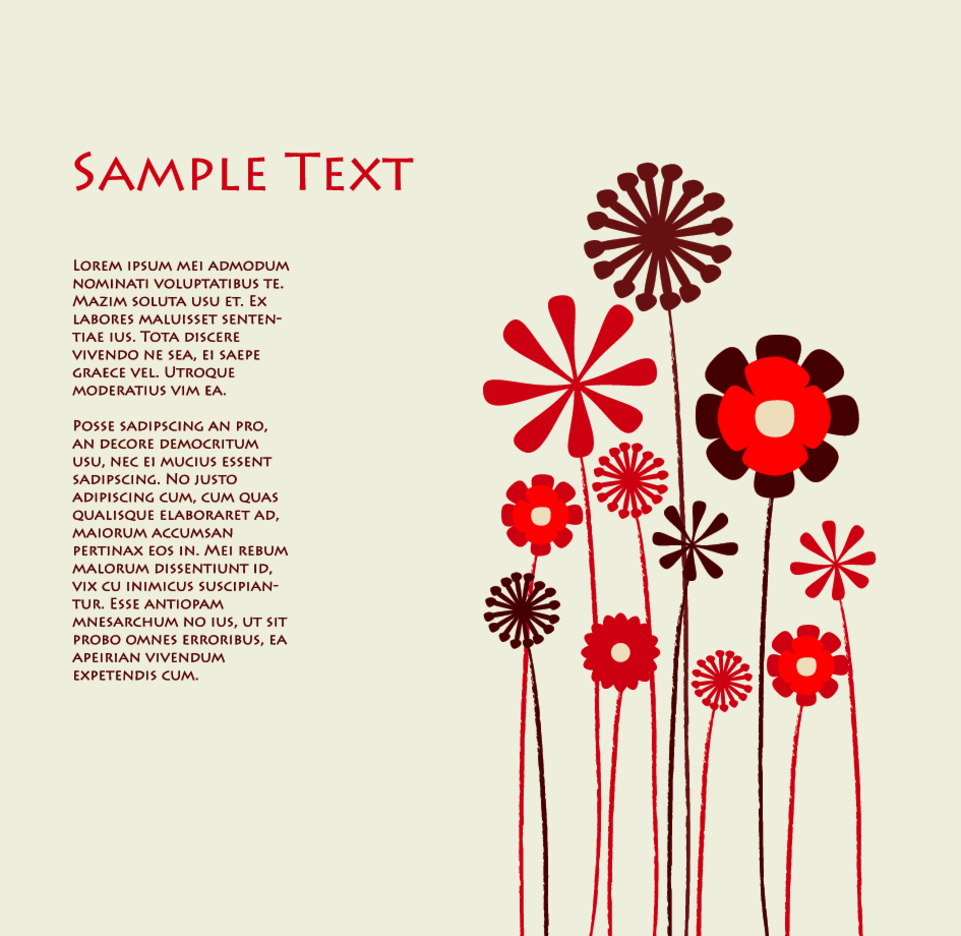 Flowers Background Template