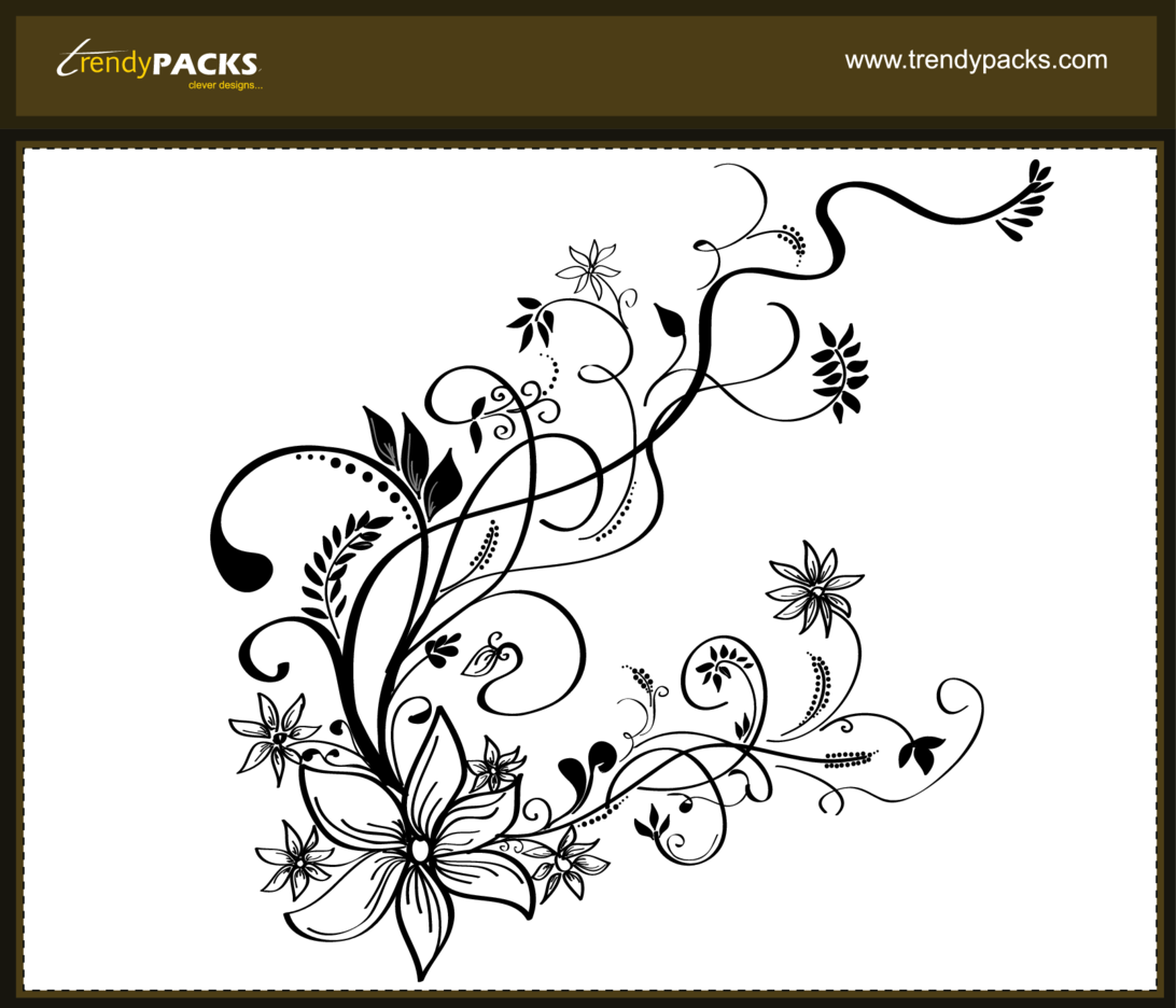 Free Hand Drawn Floral Vector