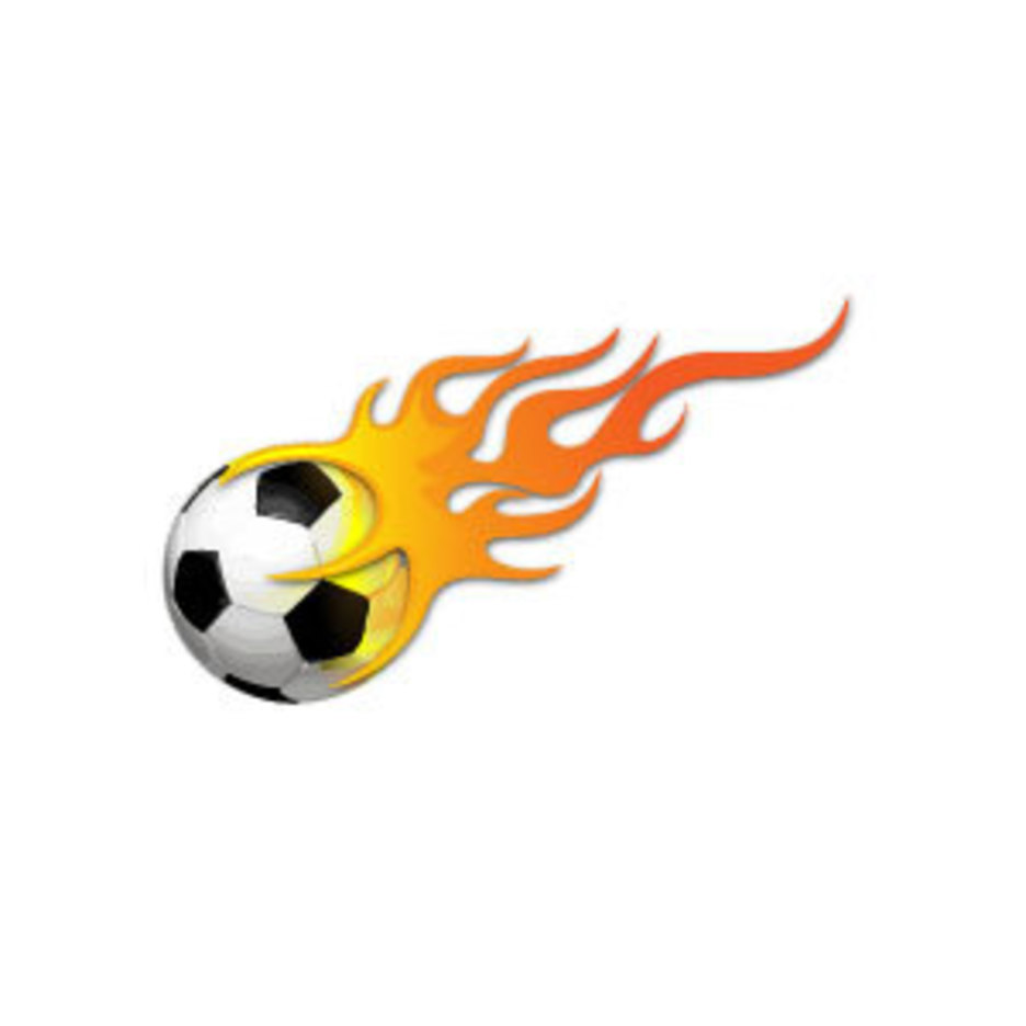 Ball In Flames Vector Image