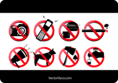 Vector Prohibited Signs