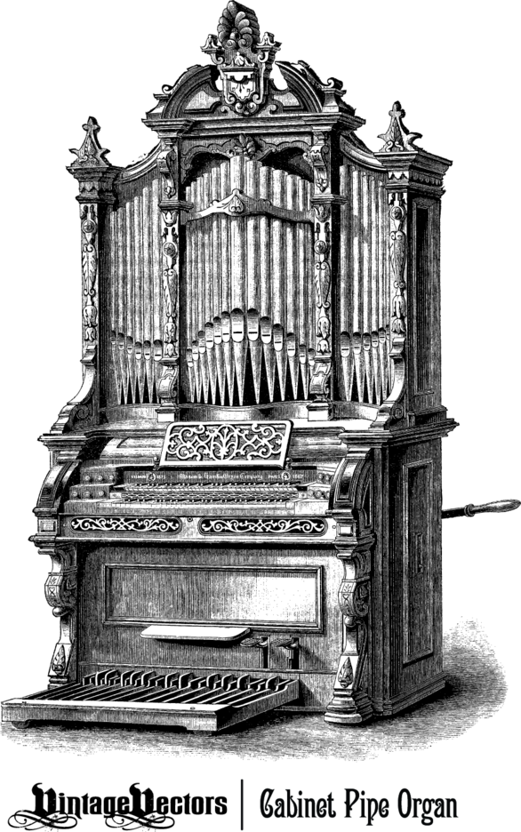 Antique Cabinet Pipe Organ