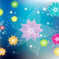 Colorful Floral Design Graphic