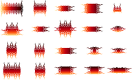 20 Vector Flames Elements