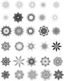 30 Vector Snowflakes