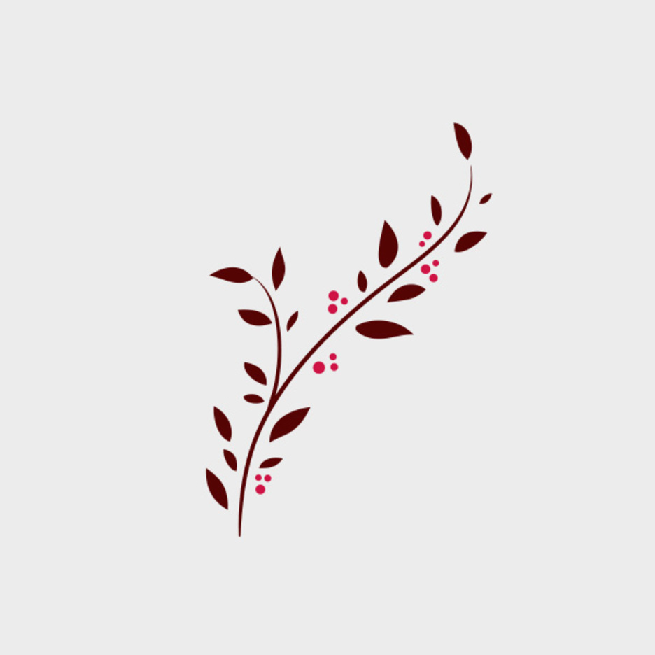 Free Vector Doodle Branch With Berries