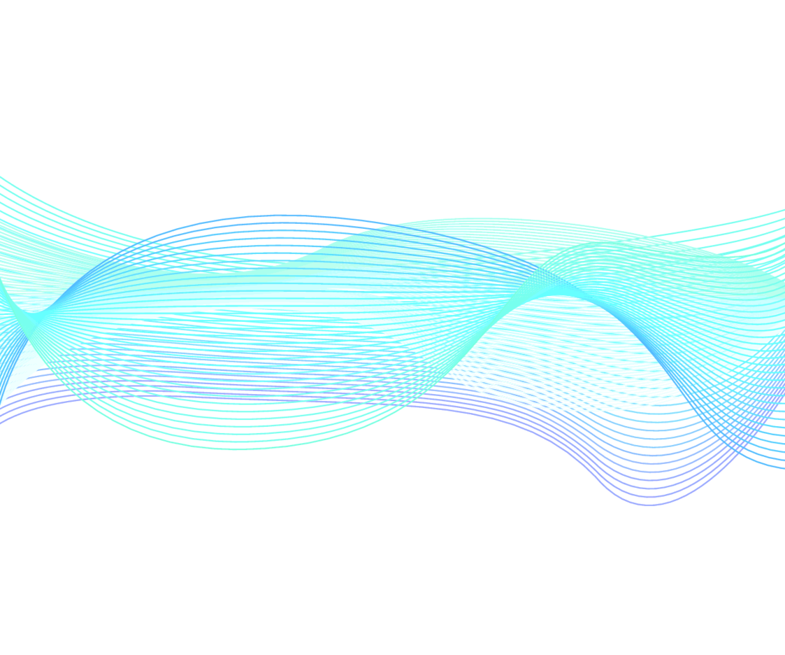 Blue Wavy Lines On White Background