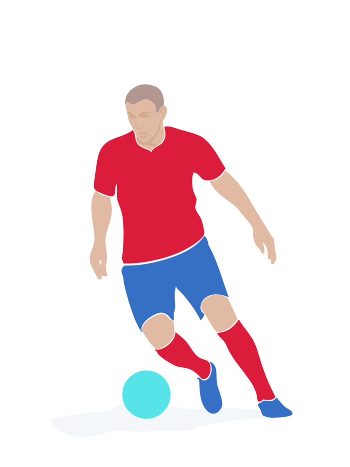 Soccer Player Vector Image 2