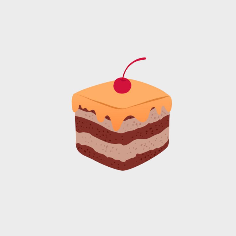 Cute Vector Cupcake