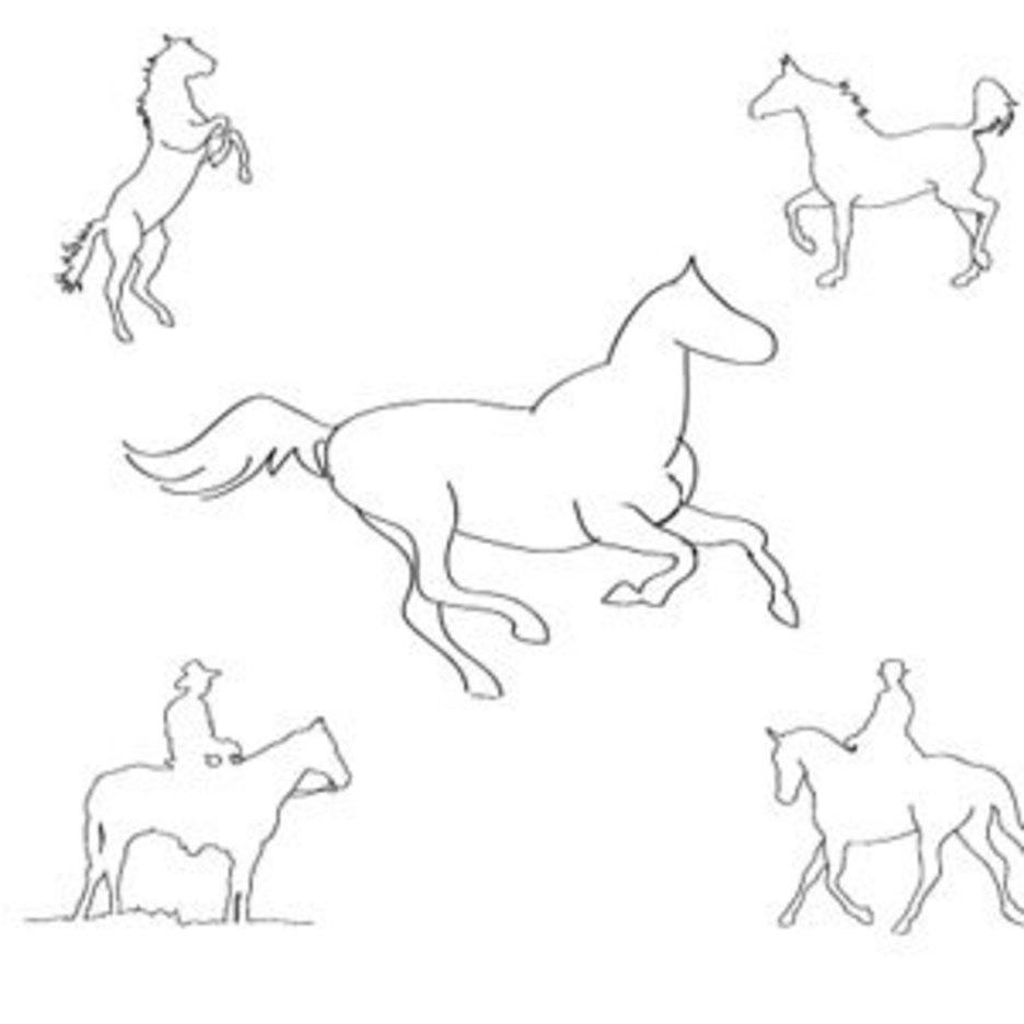Five Horses Sketch