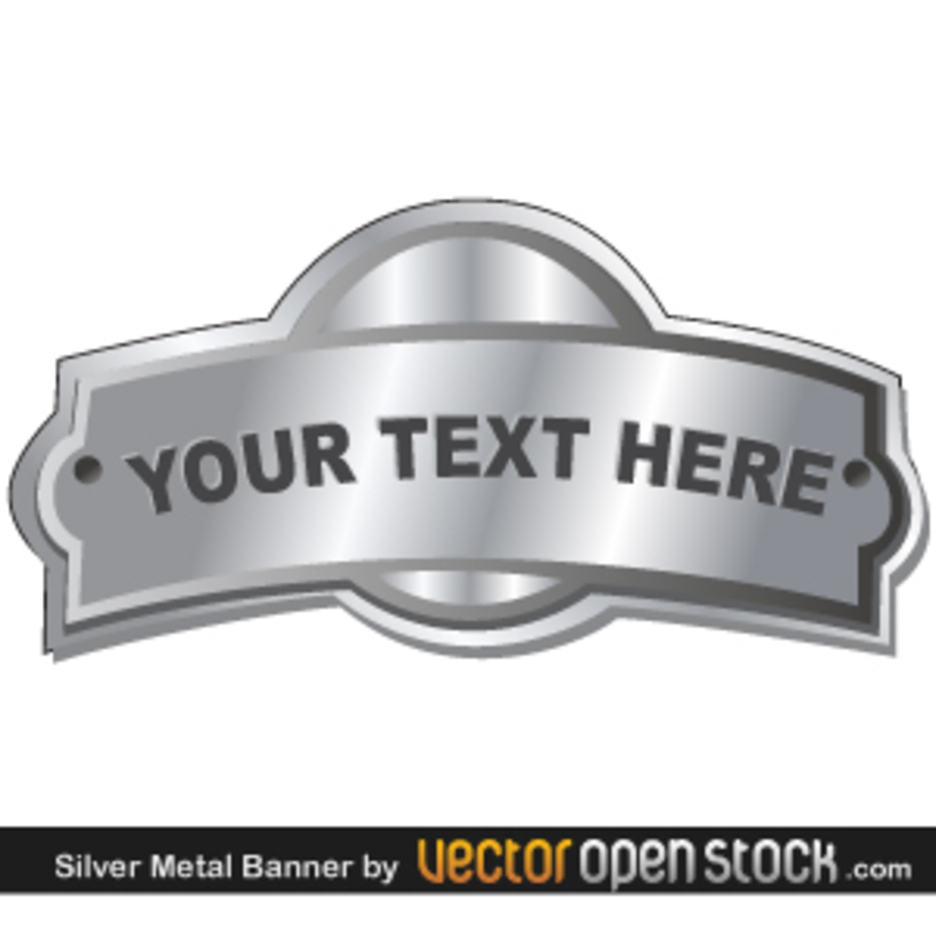 Silver Metal Banner