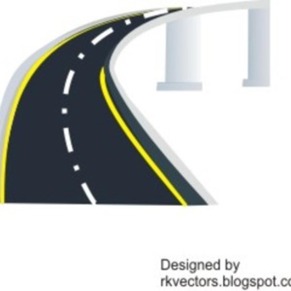 Fly Over Bridge Vector Designs