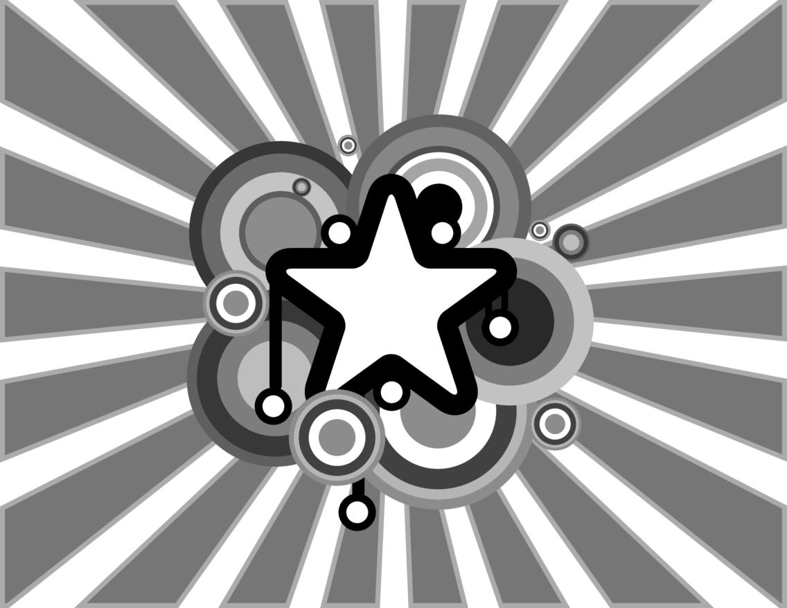 Retro Sunbeam Star Vector