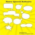Vector Retro Speech Balloons