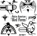 Native American Iconic Bird Forms