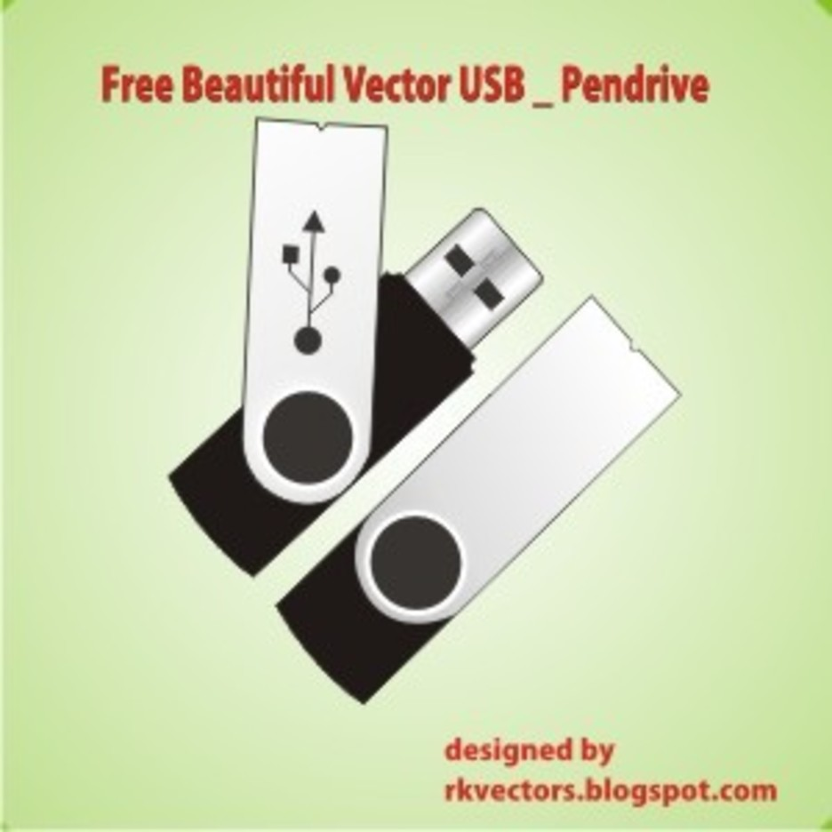 Beautiful Vector USB Pendrive