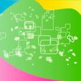 Colored Square Vector Art Design