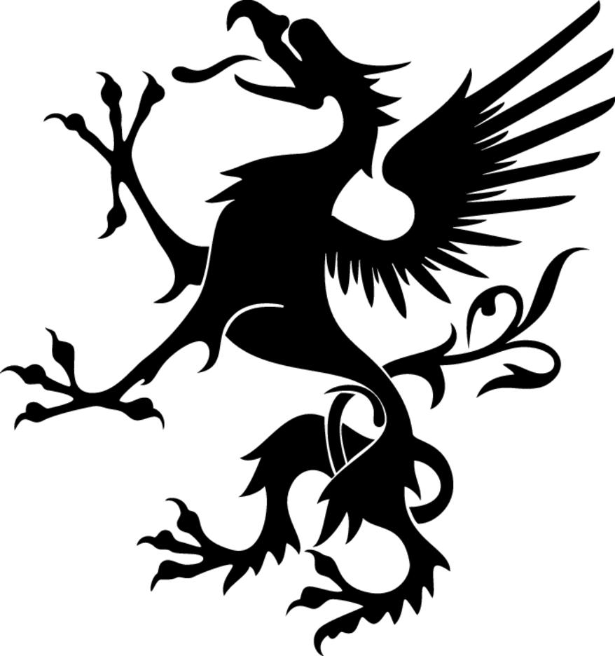 Heraldic Griffon Vector Image