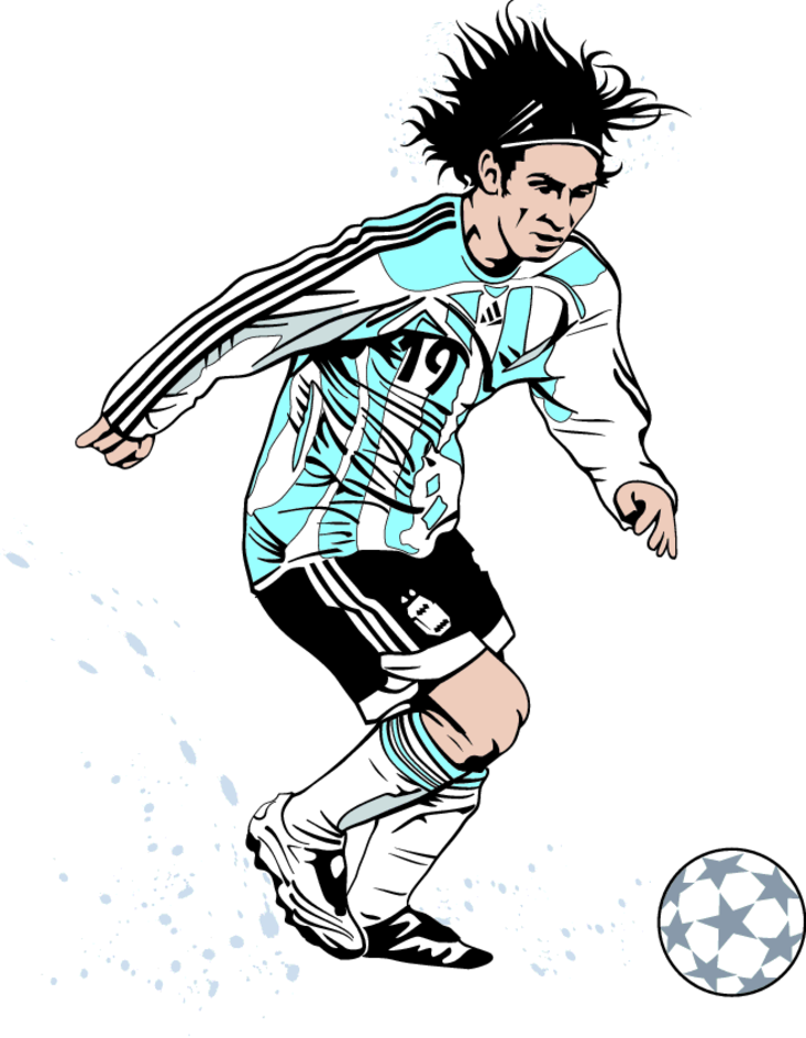 Lionel Messi Vector Image