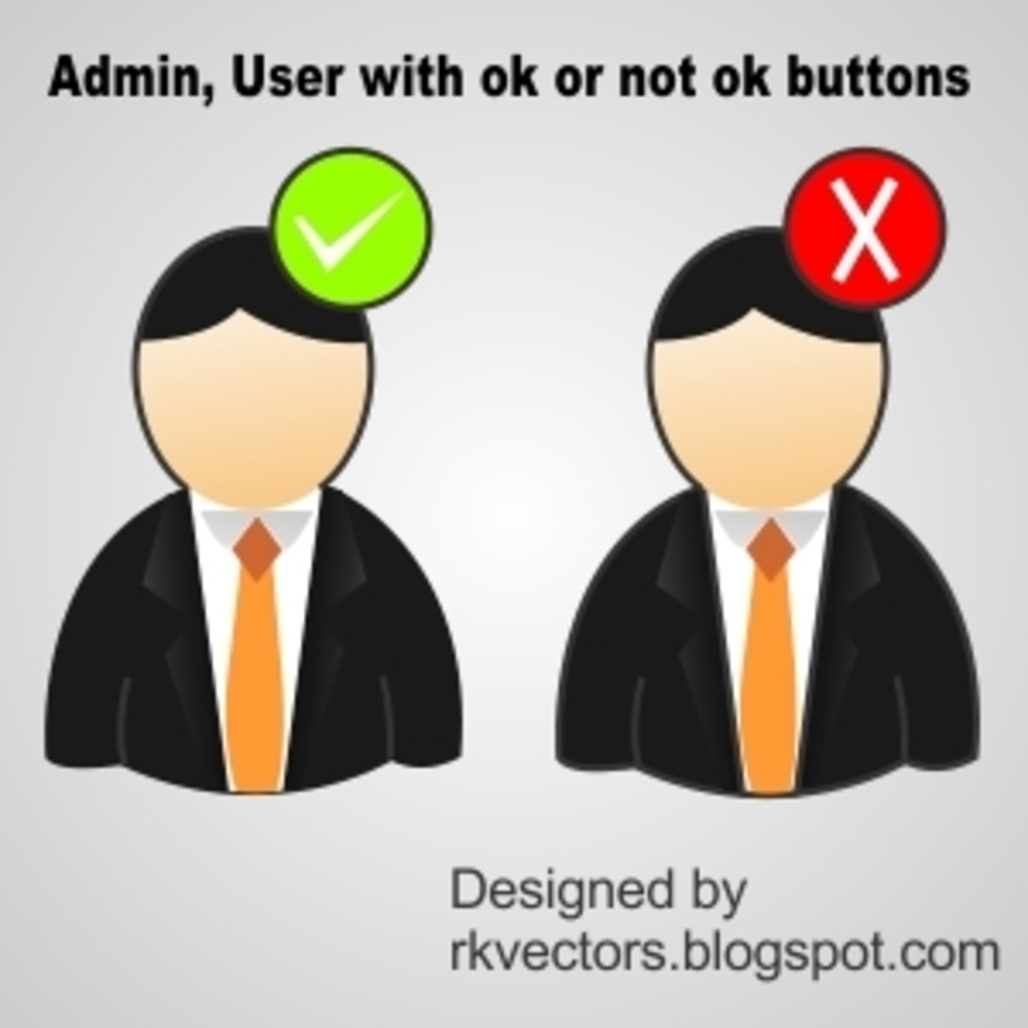 Admin, User With Ok Or Not Ok Buttons