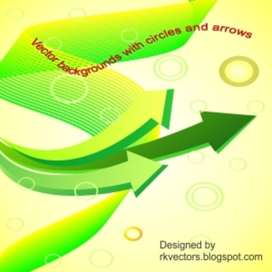 Yellow Backgrounds With Circles And Arrows