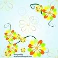 Vector Background With Corner Flower Designs