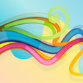 Abstract Blue Line Background Vector Graphique