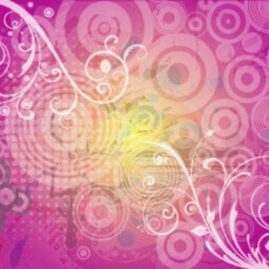 Swirly Retro Dark Vector Art Background