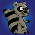 Free Funny Raccoon Cartoon Character