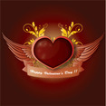 Free Valentine's Day Illustration With Heart And Wings