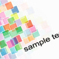 Colorful Square Element Vector Design
