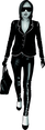 Girl In Black Vector