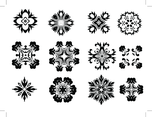 Decorative Radial Vector Elements Set