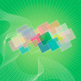 Green Abstract Square Vector Background