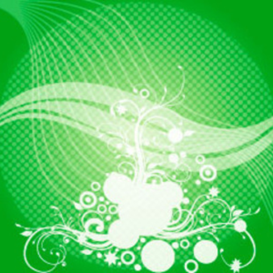 Abstract Swirls Green Vector Background
