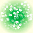 Green Flower Vector Graphic