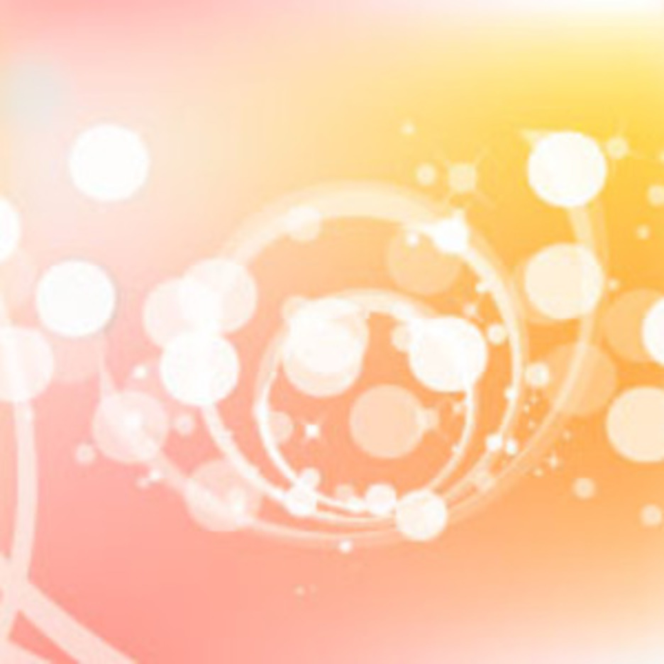 Bubbles In Orange Vector Background