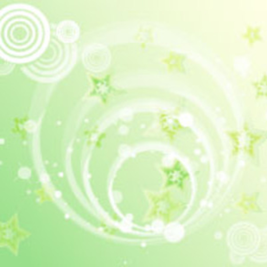 Green Stars Background Vector Graphic