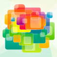 Square Vector Graphic Art