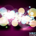 Bokeh In Black Background Vector Graphic