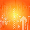 Hight Top Orange Vector Background