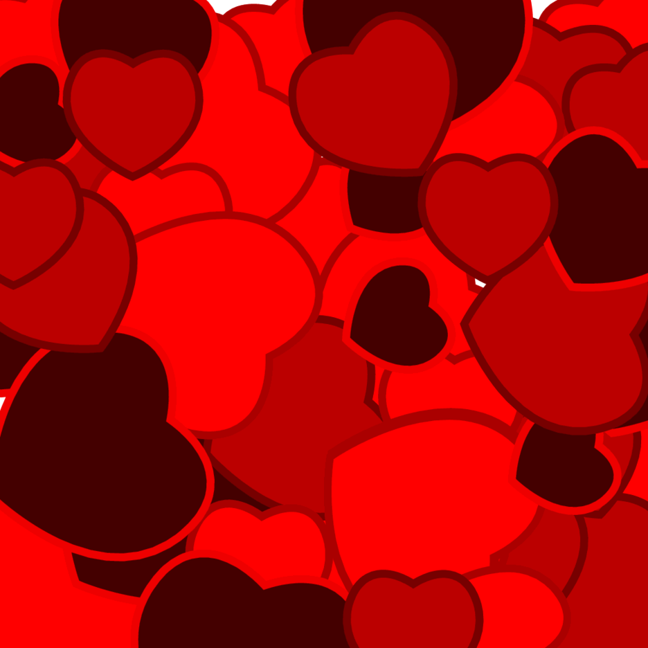 Background With Hearts Free Vector