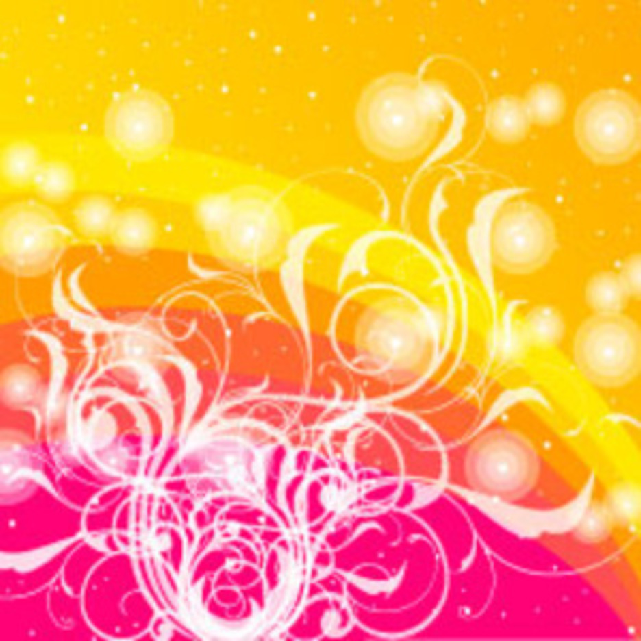 Colored Vector With Swirls Design
