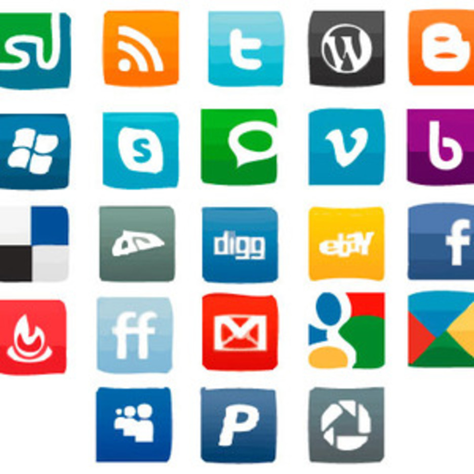 Paint Social Vector Icons