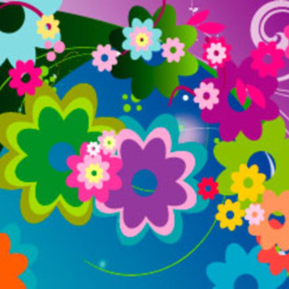 Flowers Vector Card